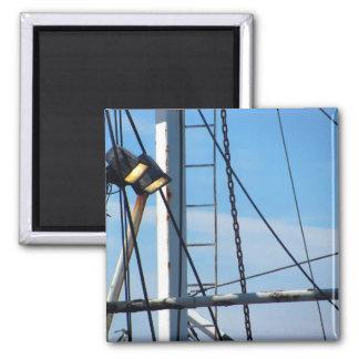 Shipyard Photograph Square Magnet