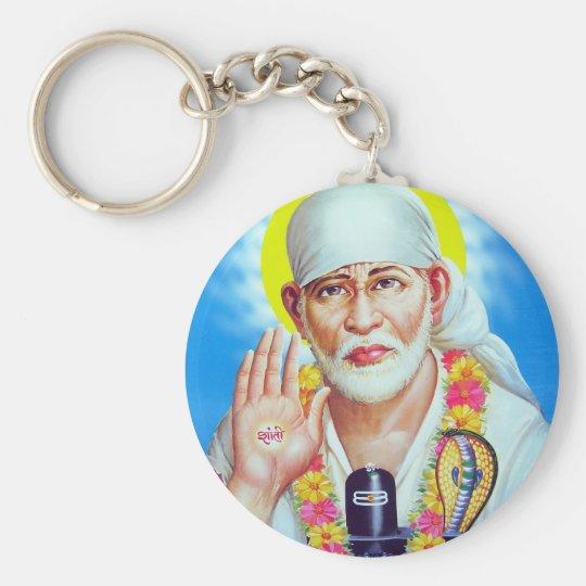shirdi_sai_baba[1] basic round button key ring