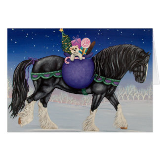 Shire Draft Horse Christmas Card