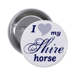 Shire horse 6 cm round badge