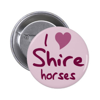 Shire horse 2 inch round button