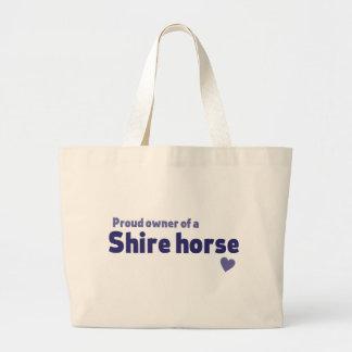 Shire horse jumbo tote bag