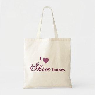 Shire horse budget tote bag