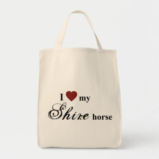 Shire horse grocery tote bag