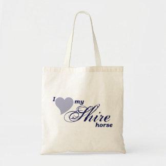 Shire horses budget tote bag