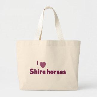 Shire horses jumbo tote bag