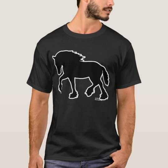Shire or Clydesdale Draught   Horse Silhouette T-Shirt