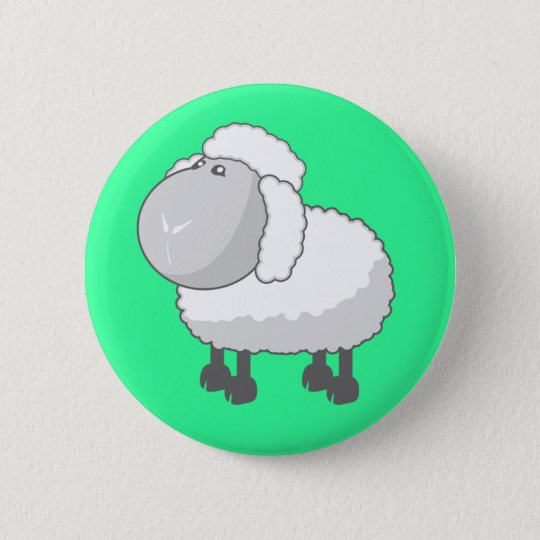 Shirley the Cute Cartoon Sheep 6 Cm Round Badge
