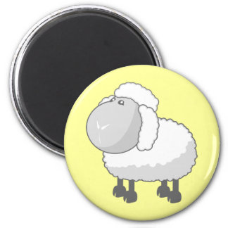 Shirley the Cute Cartoon Sheep 6 Cm Round Magnet