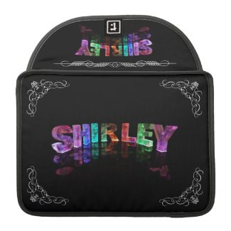 Shirley - The Name Shirley in 3D Lights (Photogra MacBook Pro Sleeves
