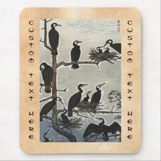 Shiro Kasamatsu Gathering of Cormorants ukiyo-e Mouse Pad