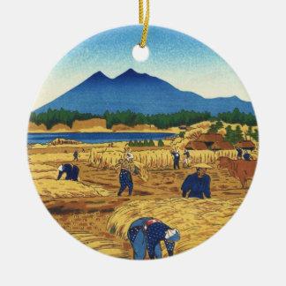 Shiro Kasamatsu Harvest Time Shin Hanga japan art Christmas Tree Ornaments