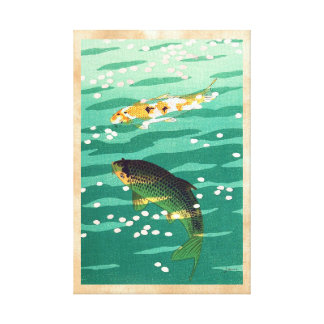 Shiro Kasamatsu Karp Koi fish pond japanese art Canvas Print