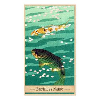 Shiro Kasamatsu Karp Koi fish pond japanese art Pack Of Standard Business Cards
