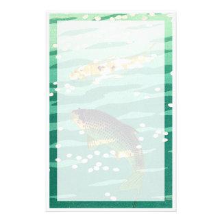 Shiro Kasamatsu Karp Koi fish pond japanese art Stationery