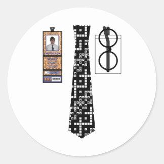 Shirt011 - Crossword copy Round Sticker