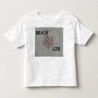 Shirt beach life with starfish and heart