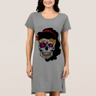 shirt dress Mexican skull