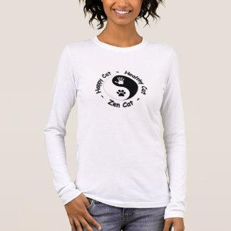 Shirt:  Happy Cat - Healthy Cat - Zen Cat Long Sleeve T-Shirt