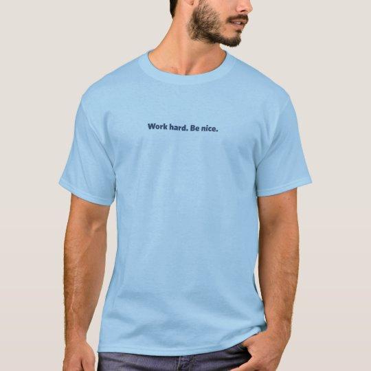 Shirt: Light Blue with Navy Logo (unisex) T-Shirt