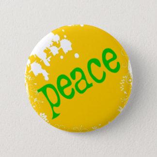 SHIRT_peace_yellow2 6 Cm Round Badge