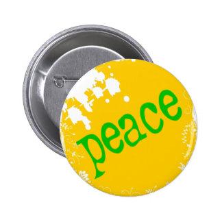 SHIRT_peace_yellow2 Pinback Buttons