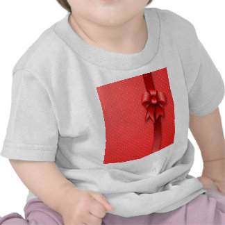 Shirt Red Present Bow