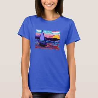 shirt,sailboat tranquility tshirt sunset