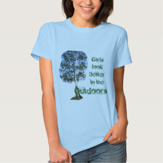 SHIRT TREE, Girls look better in the Outdoors