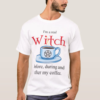 shirt V Coffee Witch on Wht