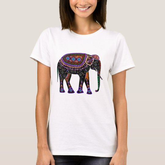 Shirt with black Elephant