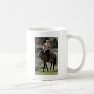 Shirtless Putin Rides a Horse Coffee Mug