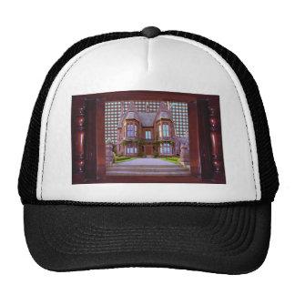 SHIRTOLOGY Haunted Vintage Castle Halloween Gifts Trucker Hat