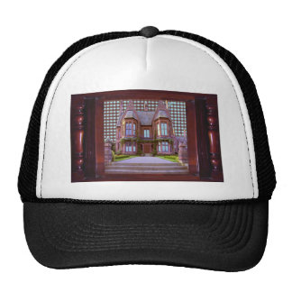 SHIRTOLOGY Haunted Vintage Castle Halloween Gifts Mesh Hat