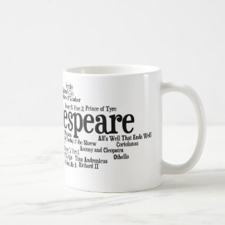 Shirts, Bags, etc. Inspired by Shakespeare's Plays Basic White Mug