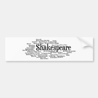 Shirts, Bags, etc. Inspired by Shakespeare's Plays Bumper Sticker