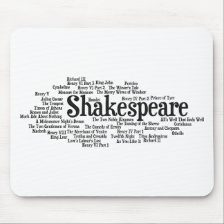 Shirts, Bags, etc. Inspired by Shakespeare's Plays Mouse Mat