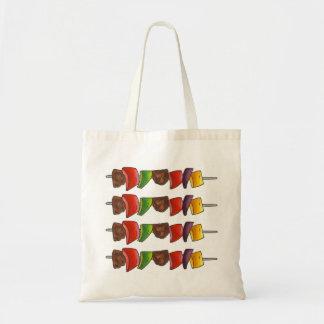 Shish Kebab Vegetable Skewer Grilling BBQ Tote Budget Tote Bag