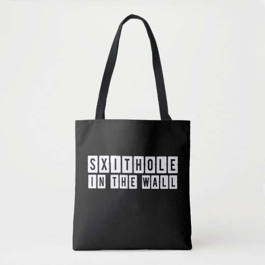 Shithole in the Wall Black Tote Bag