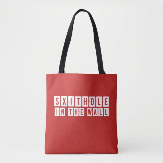 Shithole in the Wall Red Tote Bag