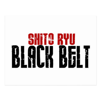 Shito Ryu Black Belt Karate Postcards