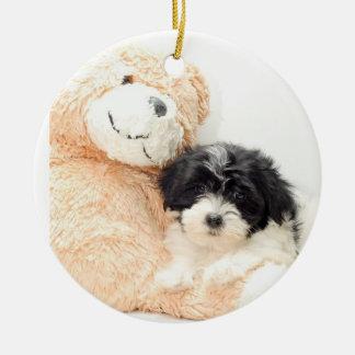 SHITZU AND TEDDY BEAR ORNAMENT