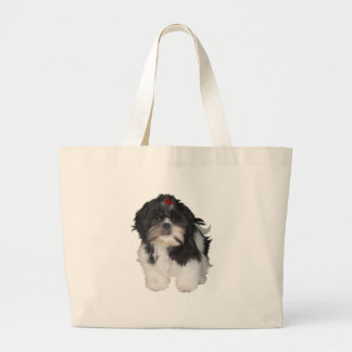 Shitzu Shih Tzu Puppy Dogs Large Tote Bag