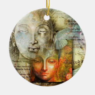 Shiva and Buddha Christmas Ornament