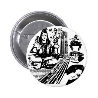 shiva and City 6 Cm Round Badge