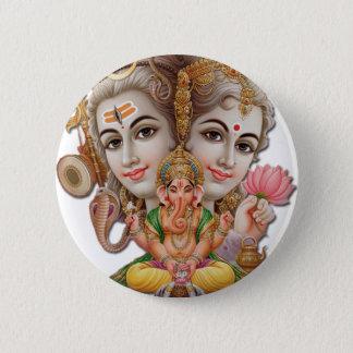 Shiva and family 6 cm round badge