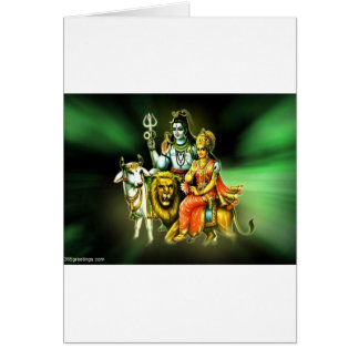SHIVA AND PARVATHI GREETING CARD