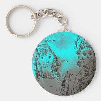 Shiva and Parvati Keychain