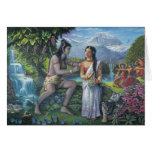 Shiva and Parvati - The All-Auspicious Couple Greeting Card