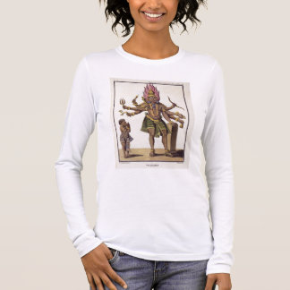 Shiva as Virapatren, Lord with the ill-formed Evil Long Sleeve T-Shirt